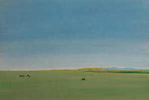 Artwork by Takao Tanabe, Foothills Looking West