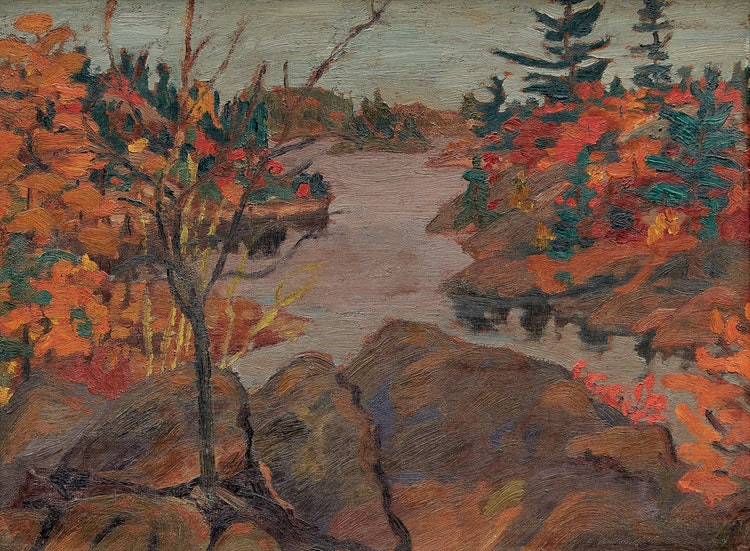 Artwork by Frederick Grant Banting,  Inlet, French River