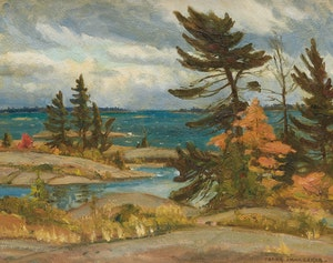 Artwork by Frank Shirley Panabaker, Approaching Storm, Georgian Bay