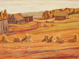 Artwork by Alexander Young Jackson, Alberta Farm, Near Edmonton