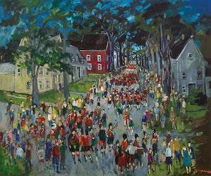 Artwork by Molly Lamb Bobak, Highland Games, Fredericton