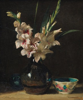 Artwork by Frederick Simpson Coburn, Gladioli