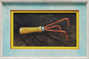 Artwork by William Kurelek, Hand Garden Rake / Three to Get Married