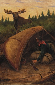 Artwork by Edward Scrope Shrapnel, Moose and Hunter