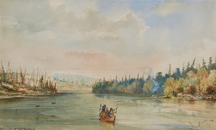 Artwork by William Armstrong,  Nipigon River, 18 miles North of Red Rock