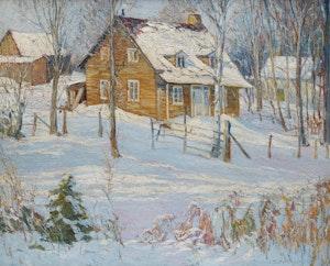 Artwork by Frederick William Hutchison, Winter Scene, Hudson Heights, Quebec