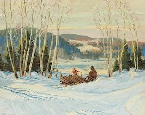 Artwork by Adolphus George Broomfield, Winter Morning, Near Kearney, Ontario
