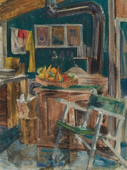 Artwork by Doris Jean McCarthy, Kitchen of the Knothole