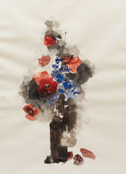 Artwork by Molly Lamb Bobak, Poppies