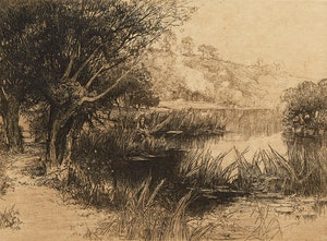 Artwork by Alfred Swatkins, Three Landscapes