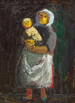 Artwork by Jesus Carlos De Vilallonga, Mother and Child