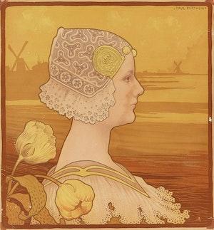 Artwork by Paul Louis Joseph Berthon, Sa très gracieuse majesté la reine Wihelmine