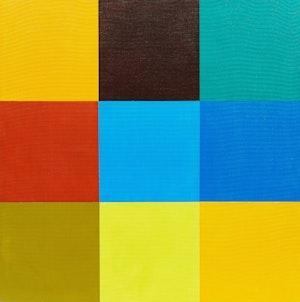 Artwork by Steve Rockwell , Richard Heller vs. Steve Rockwell, Los Angeles, July 23, 1999  (Color Match Series)