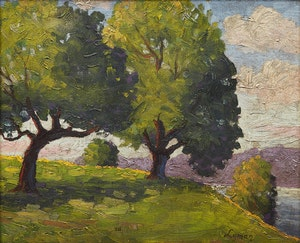 Artwork by (Attibuted to) John Goodwin Lyman, Landscape
