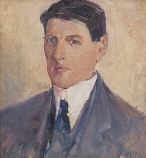 Artwork by Frederick William Hutchison, Self Portrait