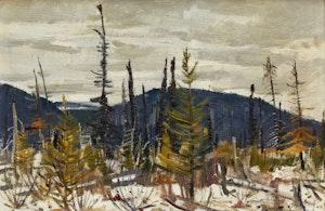 Artwork by George Lorne Holland Bouchard, October, Provincial Park, St. Urbain District