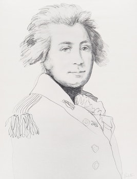 Artwork by Charles Pachter, Portrait of Governor John Graves Simcoe and Portrait of Mrs. Elizabeth Simcoe