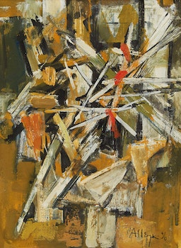 Artwork by Edmund Alleyn, Abstract Composition