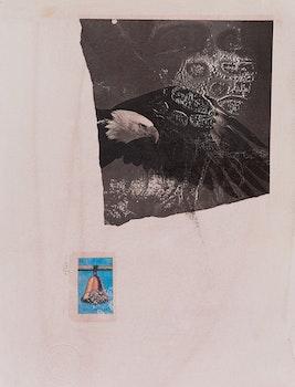 Artwork by Carl Beam, La Campana