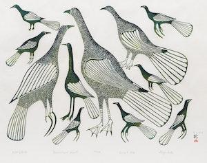 Artwork by Eliyahkota Samualie, Field of Birds