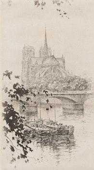 Artwork by Henri Le Richy, Notre Dame de Paris