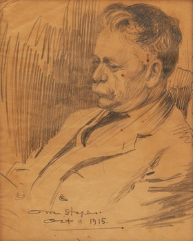 Artwork by Owen Staples, Portrait of a Gentleman