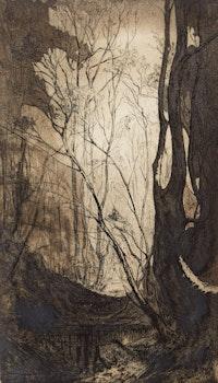 Artwork by Eveleen Buckton, Forest Interior