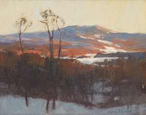 Artwork by Michael B. Karas, Gatineau Hills from Gloucester Highway 401, Winter of 1981