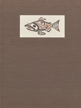 "Artwork by Bill Ronald Reid, ""The Salmon"" by Roderick Haig-Brown"
