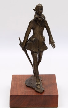 Artwork by  Unknown 20th Century Artist, Walking Figure with Umbrella