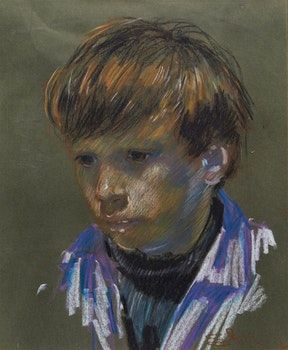 Artwork by Arthur Shilling, Portrait of a Young Boy