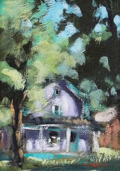 Artwork by Pierre Bédard, La maison sous les arbres