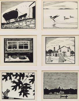 Artwork by Thoreau MacDonald, Six Works