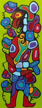 Artwork by Norval Morrisseau, The Image of David on the Astral Plane