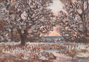 Artwork by Homer Ransford Watson, Landscape at Dusk