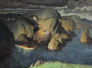 Artwork by George Franklin Arbuckle, True Lover's Leap, Newfoundland