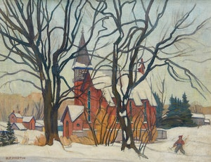 Artwork by Bernice Fenwick Martin, Village in Winter