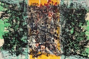 Artwork by Jean Paul Riopelle, Triptyque orange, 1967