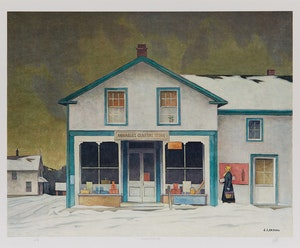 Artwork by Alfred Joseph Casson, Annables General Store; Village House; Sunshine After Rain