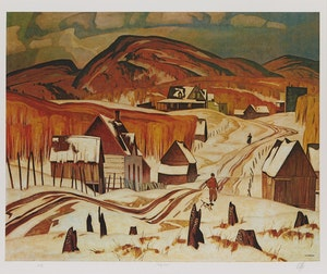 Artwork by Alfred Joseph Casson, Early Snow; Mill House; Haliburton; Autumn Decorations