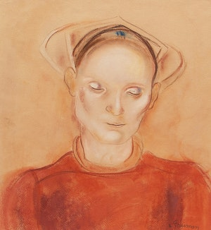 Artwork by Lillian Freiman, Woman with Bonnet