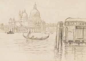 Artwork by Caroline Helena Armington, Santa Maria della Salute, Venice