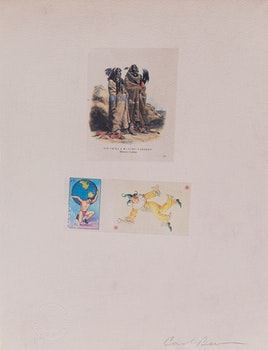 Artwork by Carl Beam, Sih-Chida & Mahchsi- Karehde/ El Mundo