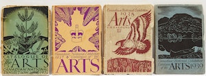 Artwork by  Books and Reference, Four Canadian National Exhibition Catalogues