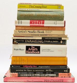 Artwork by  Books and Reference, Eighteen Artist Handbooks