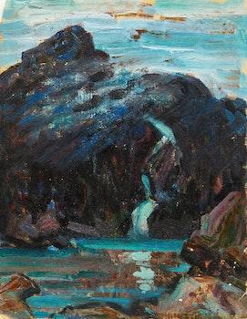 Artwork by Florence Helena McGillivray, Mountain Study; Victoria Park