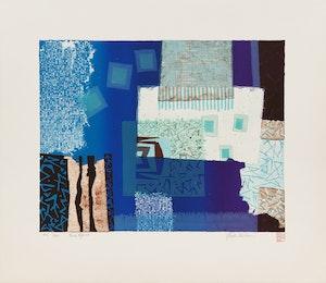 Artwork by Ronald York Wilson, Blue Opus