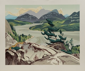 Artwork by Alfred Joseph Casson, Alone La Cloche; White Forest; Northern Church