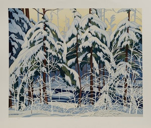 Artwork by Alfred Joseph Casson, White Forest; Alone La Cloche; White Pine; Snow Laden Spruce