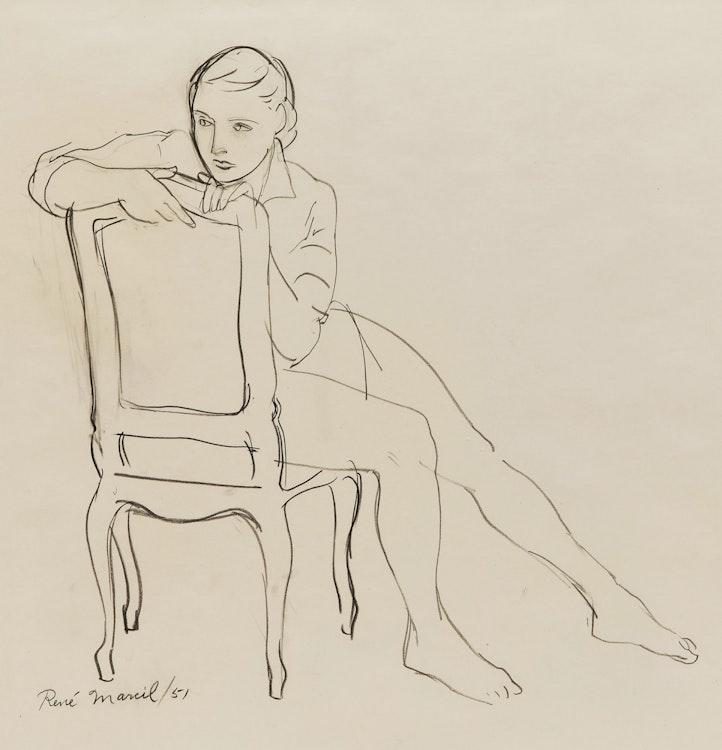 Artwork by René Marcil,  Mme. Marcil